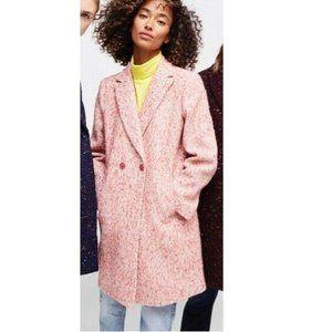 J. Crew Daphne Italian Tweed Topcoat Pink NWT 8